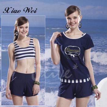 泳之美 清新亮眼時尚四件式比基尼泳裝 NO.6012
