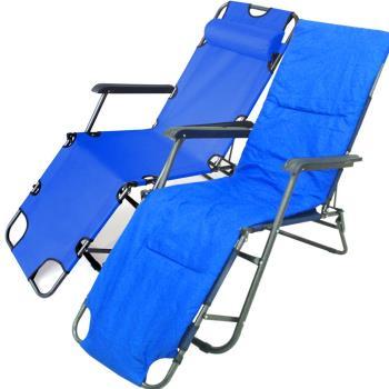 600D牛津布坐躺兩用休閒椅躺椅(附舖綿椅墊)