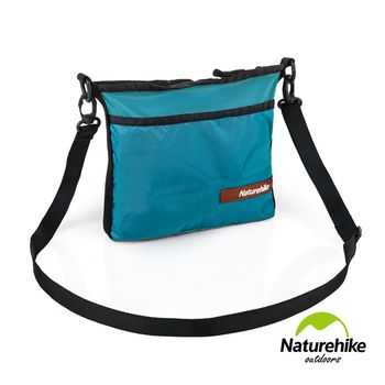Naturehike 20D休閒輕量防水拼色斜肩背包 防盜包 側背包 深綠