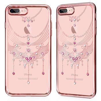 GARMMA iPhone 7 Plus 5.5吋-施華洛水鑽硬式保護殼-蝶舞翩翩