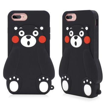 GARMMA Kumamon熊本熊iPhone 7/6S/6 4.7吋-立體矽膠果凍套 小呆瓜