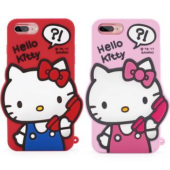 GARMMA Hello Kitty iPhone 7/6S/6 Plus 5.5吋-立體矽膠果凍套 哈囉凱蒂