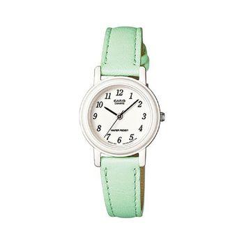【CASIO】 馬卡龍甜心魅力皮帶腕錶- 綠 (LQ-139L-3B)