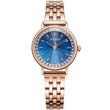 JULIUS聚利時 粼粼星辰不鏽鋼錶帶腕錶-(四色/30mm)