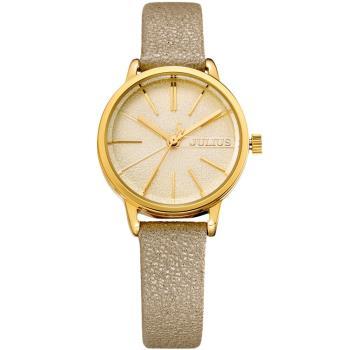 JULIUS聚利時 香榭大道皮錶帶腕錶-(四色/28mm)