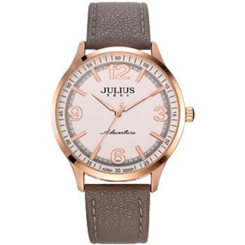 【JULIUS】無限旅程立體數字皮錶帶腕錶(五色/33mm)