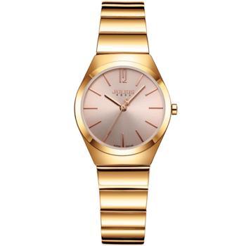 JULIUS 聚利時 紐約之夜簡約不鏽鋼錶帶腕錶-(四色/30mm)