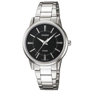 【CASIO】 經典時尚實用百搭簡約指針腕錶-黑色丁字面-黑 (LTP-1303D-1A)