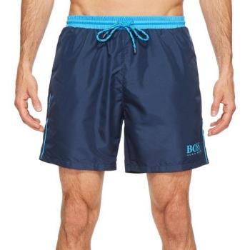 【HUGO BOSS】男時尚色彩對比深藍色快乾游泳褲(預購)