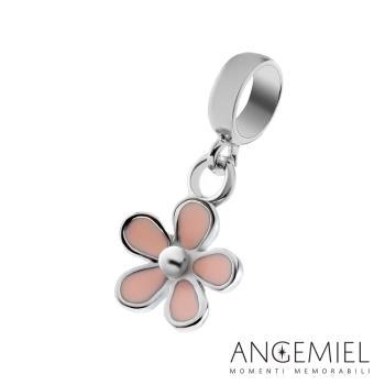 Angemiel安婕米 925純銀吊飾 粉紅袖珍花