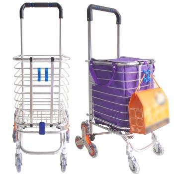 新改良兩用八輪可爬梯購物車+袋+掛勾+彈力繩