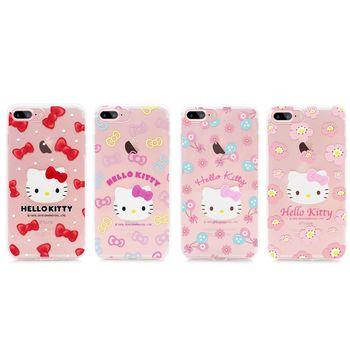 GARMMA Hello Kitty iPhone 7 4.7吋 TPU保護軟殼 立體貓頭系列