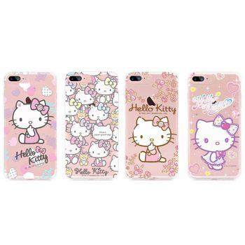 GARMMA Hello Kitty iPhone 7 Plus 5.5吋 TPU空壓防摔保護軟殼 奢華水鑽系列