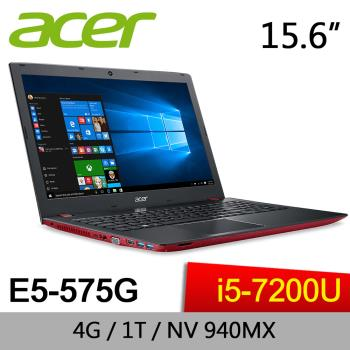 Acer宏碁 Aspire E 獨顯效能筆電 E5-575G-5032 15.6吋/i5-7200U/4G/1T/NV 940MX