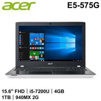 Acer宏碁 Aspire E 獨顯效能筆電 E5-575G-596Q 15.6吋/i5-7200U/4G/1T/NV 940MX