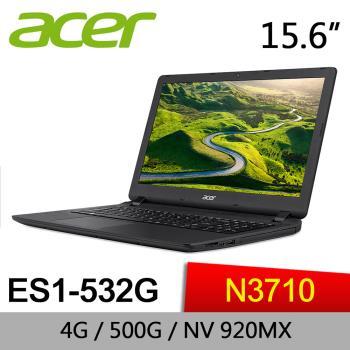 Acer宏碁 Aspire ES 文書筆電 ES1-532G-P4FW 15.6/N3710/2G/500G