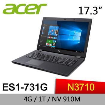 Acer宏碁 Aspire ES 文書筆電 ES1-731G-P3R7 17/N3710/4G/1TB/GeForce 910M 2G