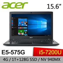 ACER 宏碁 E5-575G-51QK 15.6吋 i5-7200U 獨顯GT 940MX 2G 1TB+128G SSD超效能筆電