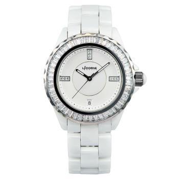 LICORNE 天使情人晶鑽陶瓷腕錶 白 38mm LI020BWWI-SW