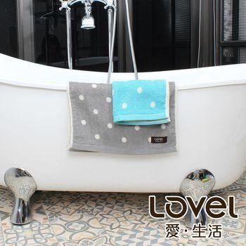 Lovel 專利咖啡紗除臭抗UV圓點2件組(毛巾+方巾)