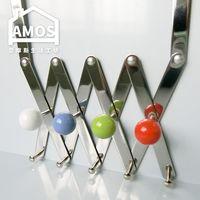 【Amos】糖果繽紛樂伸縮門後四掛勾