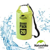 Naturehike 500D戶外超輕量防水袋 收納袋 漂流袋20L 亮綠