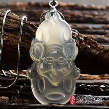 【東方翡翠寶石】瑪瑙鼠項鍊玉珮(鼠牌瑪瑙鼠玉珮、玉髓鼠玉墜、鼠十二生肖項鍊)MU021