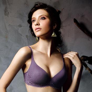 任-華歌爾-新隱絲系列A-D罩杯無痕內衣(葡萄紫)