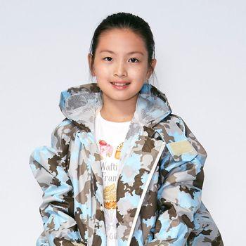RAINSTORY雨衣-藍調迷彩連身甜美雨衣(M號)
