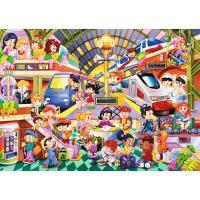 54片兒童地板拼圖/繁忙火車站