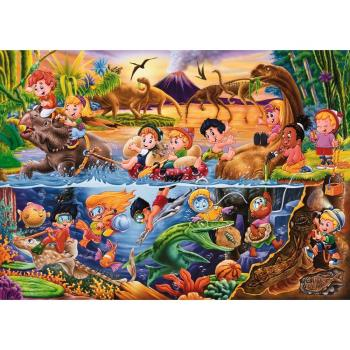 [Jo醬紙玩]54片兒童地板拼圖/恐龍樂園