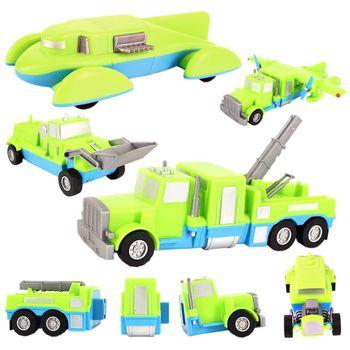 百變自由組合磁性積木迴力車4-卡車/貨車/創意車