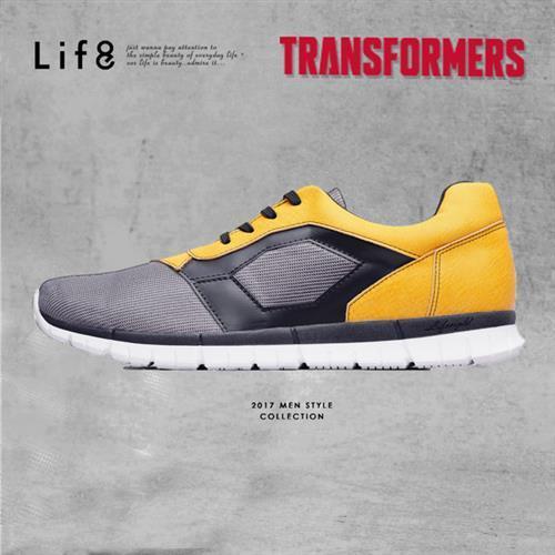 Life8-Casual 變形金剛 金屬網布 大黃蜂限量光束休閒鞋-09658-黃色
