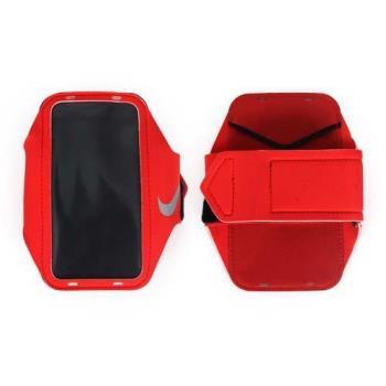 NIKE 輕量手機萬用臂包-慢跑 路跑 手機包 5.7吋螢幕適用 紅