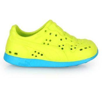 PUMA RS 200 INJEX V KIDS男女童排水拖鞋-護趾童鞋懶人鞋 芥末綠藍