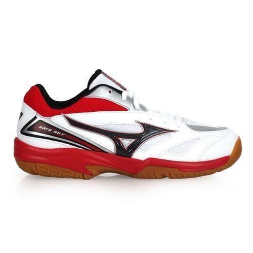 MIZUNO GATE SKY 男女羽球鞋-美津濃 白紅黑