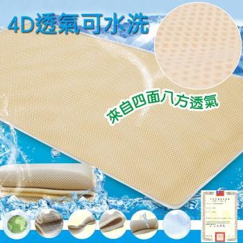 蒙娜麗莎台灣製4D超透氣專利止滑可水洗速乾床墊3.5尺單人加大