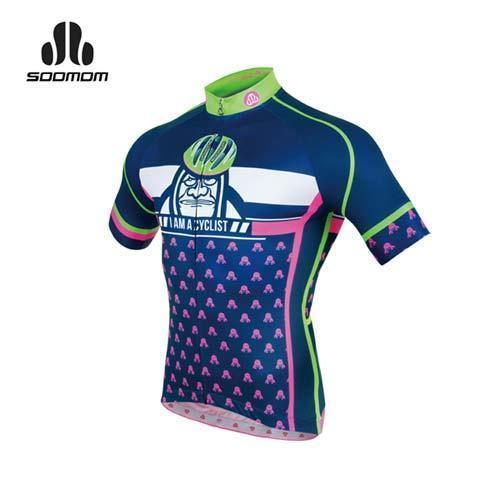 SOOMOM 男瑪爾斯短車衣-單車 自行車 速盟 丈青白綠