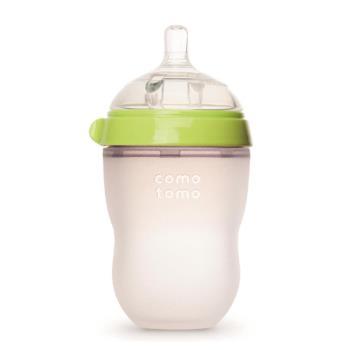 美國comotomo 矽膠奶瓶 250ML-綠250G-EN