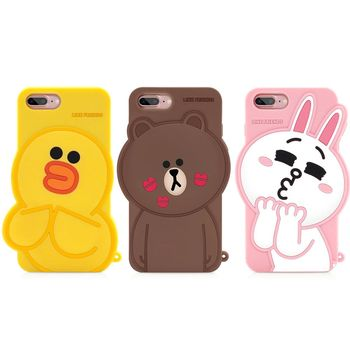 GARMMA LINE Friends iPhone 7/6S/6 Plus 5.5吋-立體矽膠果凍套