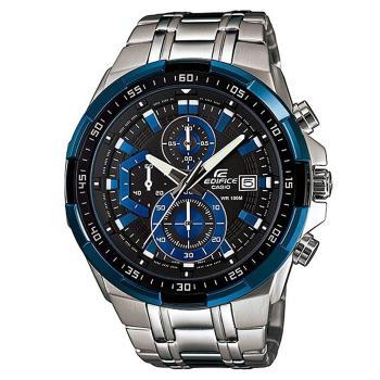 【CASIO】 EDIFICE F1賽車科技新貴指針錶-藍框 (EF-539D-1A2)