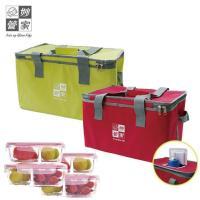 【買1送4】妙管家便利開保冷袋22L+送MIT分隔保鮮盒