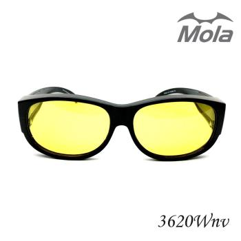 MOLA摩拉偏光夜視眼鏡近視眼鏡可戴 雨天/夜晚/霧天/陰天都可使用-3620Wnv