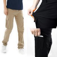 【遊遍天下】男款多口袋彈力時尚休閒長褲P136(2色)