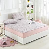 Lily Royal 天絲-加大平單式涼蓆/軟蓆枕套組-織花