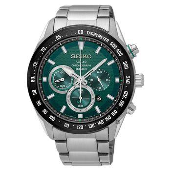 SEIKO精工 Criteria 太陽能計時手錶 綠 43mm V175-0EE0G SSC583P1