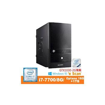 Genuine 捷元 Avbody G15A-8Q i7-7700四核 8GB記憶體 GT1030獨顯 Win10 桌上型電腦