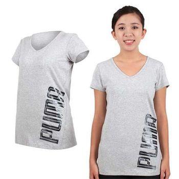 PUMA 女訓練系列短袖T恤-T恤 短T 慢跑 路跑 淺灰黑