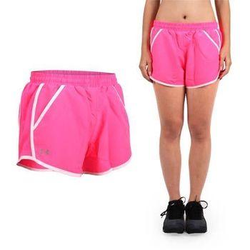 UNDER ARMOUR HG FF 1.0 女慢跑短褲 -三分褲 訓練 路跑 桃紅粉