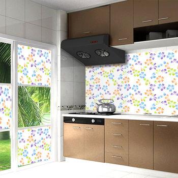 AGL愛潔樂-無膠可水洗萬用壁貼/窗戶貼/廚房貼/桌巾-時尚櫻花135*210cm(整捆)